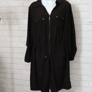 Alfani  zip up shirtdress in black